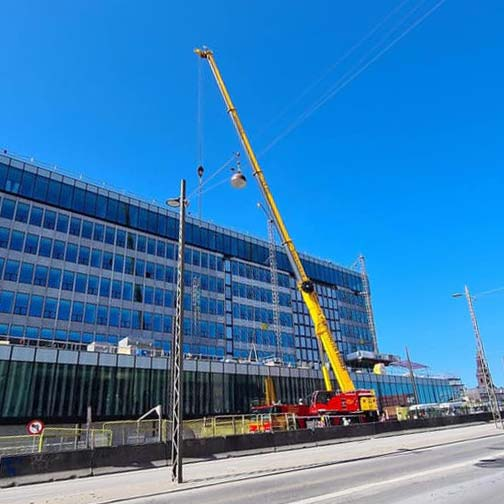 Arbejdsplatforme på Christianshavn